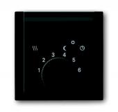 Плата центральная (накладка) для механизма терморегулятора (термостата) 1095 U, 1096 U, серия impuls, цвет чёрный бриллиант 1795-71