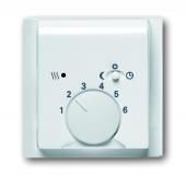 Плата центральная (накладка) для механизма терморегулятора (термостата) 1095 U, 1096 U, серия impuls, цвет альпийский белый 1795-74