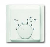 Плата центральная (накладка) для механизма терморегулятора (термостата) 1095 U, 1096 U, серия impuls, цвет белый бархат 1795-774