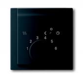 Плата центральная (накладка) для механизма терморегулятора (термостата) 1095 U, 1096 U, серия impuls, цвет чёрный бархат 1795-775
