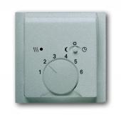 Плата центральная (накладка) для механизма терморегулятора (термостата) 1095 U, 1096 U, серия impuls, цвет серебристый металлик 1795-783