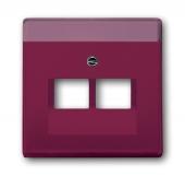 Плата центральная (накладка) для 2-постовой телекоммуникационной розетки 0214, 0215, 0217, 0218, с полем для надписи, серия solo/future, цвет toscana/красный 1803-02-87
