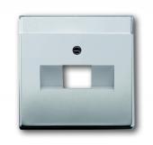 Плата центральная (накладка) для 1-постовой телекоммуникационной розетки 0213, 0216, с полем для надписи, серия pur/сталь 1803-866