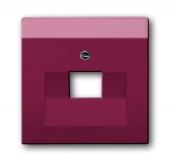 Плата центральная (накладка) для 1-постовой телекоммуникационной розетки 0213, 0216, с полем для надписи, серия solo/future, цвет toscana/красный 1803-87