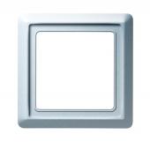 Рамка 1-постовая, серия Allwetter 44, цвет серебристо-алюминиевый 2101-33