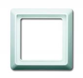 Рамка 1-постовая, серия Allwetter 44, цвет альпийский белый 2101-34