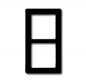 Рамка 2-постовая, серия Allwetter 44, цвет антрацит 2102-35