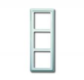 Рамка 3-постовая, серия Allwetter 44, цвет альпийский белый 2103-34