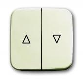 Клавиша для механизма выключателя жалюзи 2000/4 U и 2020/4 U, серия Busch-Duro 2000 SI, цвет слоновая кость 2504-212