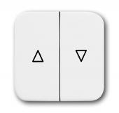 Клавиша для механизма выключателя жалюзи 2000/4 U и 2020/4 U, серия Reflex SI, цвет альпийский белый 2504-214