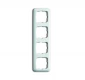 Рамка 4-постовая, серия Reflex SI, цвет альпийский белый 2514-214