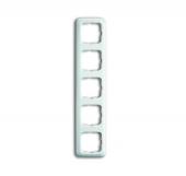 Рамка 5-постовая, серия Reflex SI, цвет альпийский белый 2515-214
