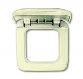 Рамка с крышкой 1-постовая, серия Busch-Duro 2000 SI, цвет слоновая кость 2518-212