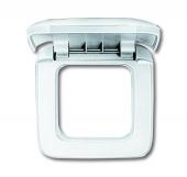 Рамка с крышкой 1-постовая, серия Reflex SI, цвет альпийский белый 2518-214