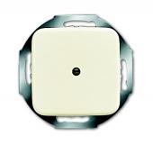 Плата центральная (накладка) для вывода кабеля, с суппортом, с компенсатором натяжения, серия Busch-Duro 2000 SI, цвет слоновая кост 2527-212