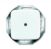 Плата центральная (накладка) для вывода кабеля, с суппортом, с компенсатором натяжения, серия Reflex SI, цвет альпийский белый 2527-214
