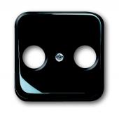 Плата центральная (накладка) для TV-FM розетки, серия Reflex SI чёрный 2531-215