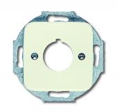 Плата центральная (накладка) с суппортом для командно-сигнальных приборов D=22.5 мм, серия Busch-Duro 2000 SI, цвет слоновая кость 2533-212