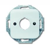 Плата центральная (накладка) с суппортом для командно-сигнальных приборов D=22.5 мм, серия Reflex SI, цвет альпийский белый 2533-214