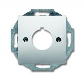 Плата центральная (накладка) с суппортом для командно-сигнальных приборов D=22.5 мм, серия pur/сталь 2533-866