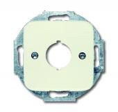 Плата центральная (накладка) с суппортом для разъёмов D=19 мм, серия Busch-Duro 2000 SI, цвет слоновая кость 2534-212