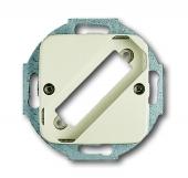 Плата центральная (накладка) для разъёмов D-Sub на 25-полюсов, серия Busch-Duro 2000 SI, цвет слоновая кость 2549-212