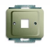 Плата центральная (накладка) для 1-го разъёма Modular Jack (артикулы 0210, 0211 и 0219), серия alpha exclusive, цвет палладий 2561-260