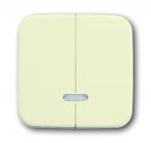 Клавиша для 2-канального светорегулятора 6565 U, серия Busch-Duro 2000 SI, цвет слоновая кость 6545-212