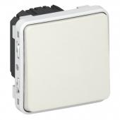 Plexo Переключатель одноклавишный в рамку белый ,69611