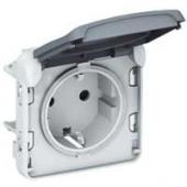 Plexo Розетка с заземлением IP55 белая в рамку