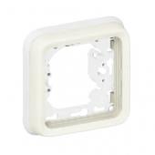 Plexo Рамка 1 пост белая +суппорт для 1-механизма ,69692