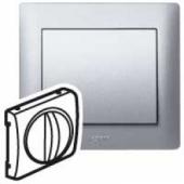 Galea Life Лицевая панель для управления вентиляцией и выключателя с задержкой срабатывания алюминий