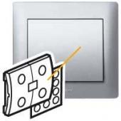 Galea Life Лицевая панель выключатель сценраный IN ONE алюминий ,771393