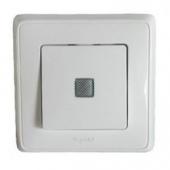 CARIVA Выключатель одноклавишный с подсветкой в рамку белый