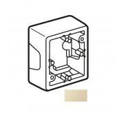 CARIVA Коробка установочная 36 мм для наружного монтажа слоновая кость для розеток с заземлением ,773797