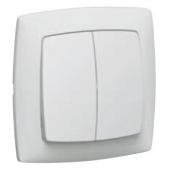 SUNO Переключатель на два направления рамку белый