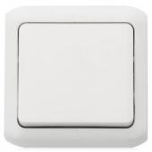 Quteo Переключатель одноклавишный наружный IP44 белый 10А